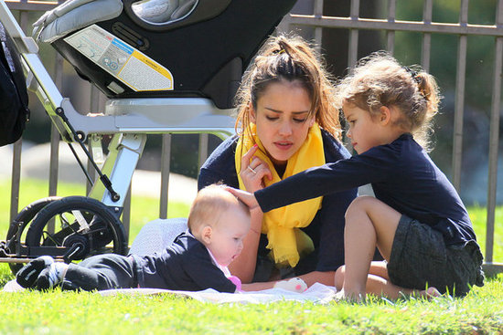 Jessica Alba Spends a Sunny Afternoon With Her Loved Ones