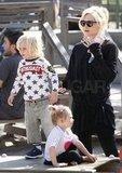 Gwen Stefani wore black to the park.