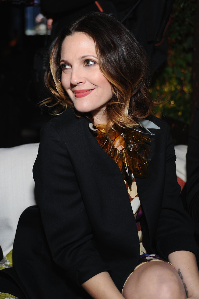 Drew Barrymore hung out at the H&M party.