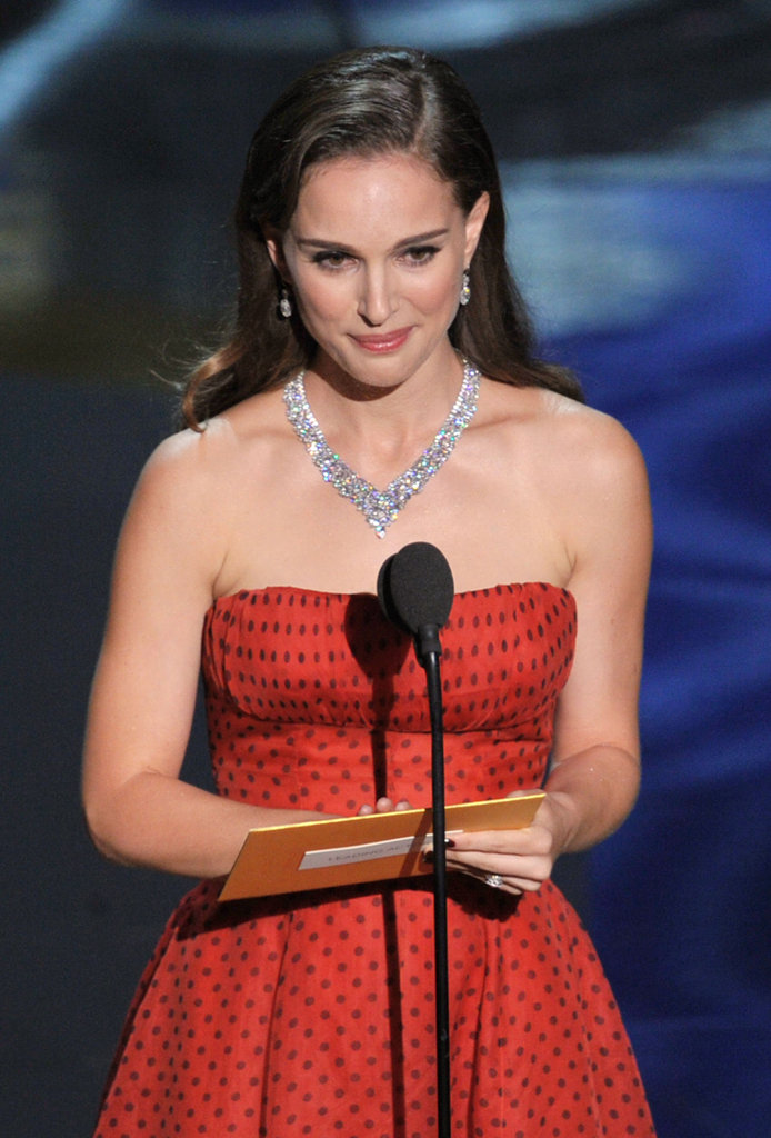 Natalie Portman presented the best actor award.