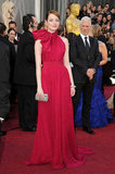 Emma Stone Rocks It in Red on the Oscars Red Carpet