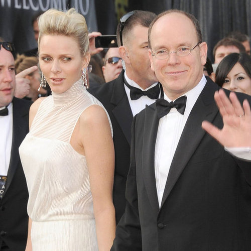 Princess of Monaco at Oscars in White Dress Pictures 2012