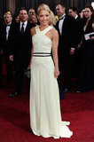 Kelly Ripa smiled on the red carpet in a halterneck gown.