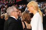 Gwyneth Paltrow chatted with Steven Spielberg.