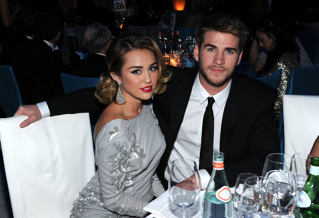 Miley Cyrus and Liam Hemsworth Join the Oscar Action at Elton John's Annual Bash