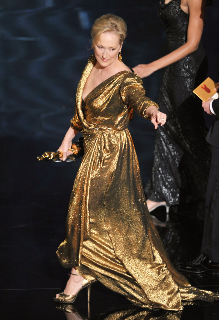 Meryl Streep accepted the best actress award.