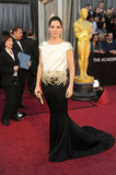 Sandra Bullock was decked out in a Marchesa gown on the Oscars red carpet.