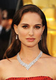 Natalie Portman was decked out in Harry Winston jewels.