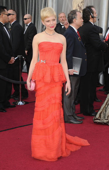 Michelle Williams in Louis Vuitton at the 2012 Oscars.