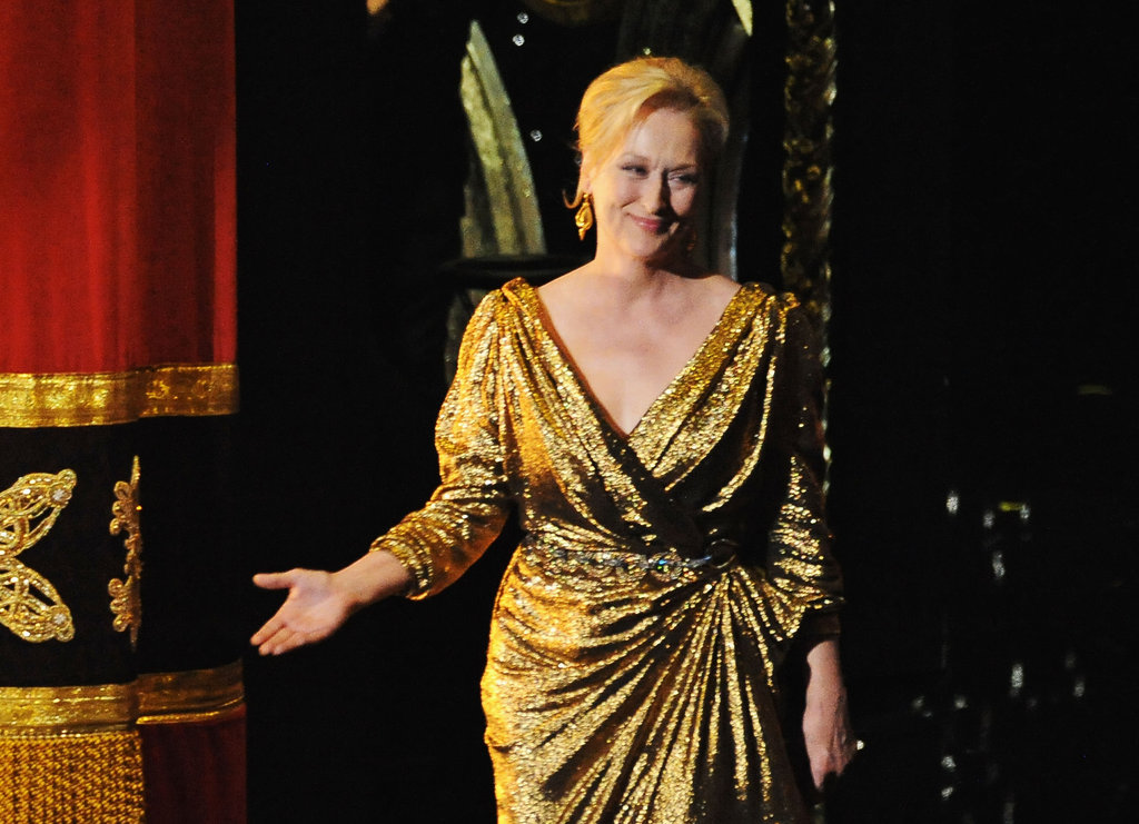 Meryl Streep presented an award at the 2012 Oscars.