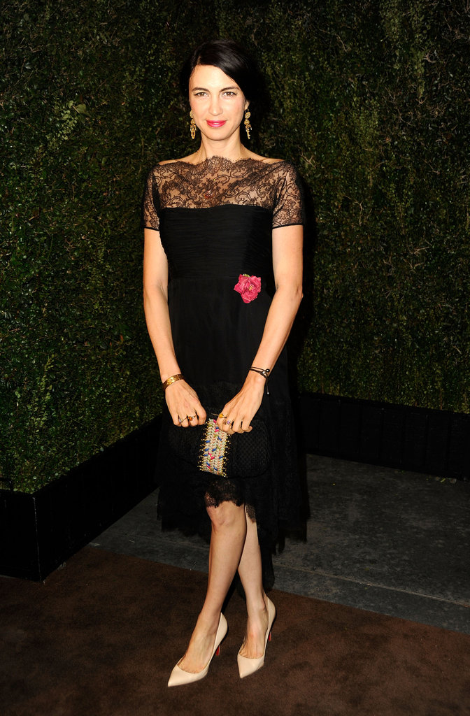 Shiva Rose looked lovely in black lace.