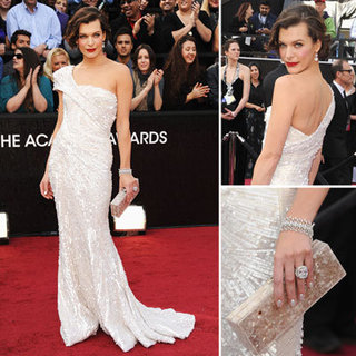 Milla Jovovich at Oscars 2012