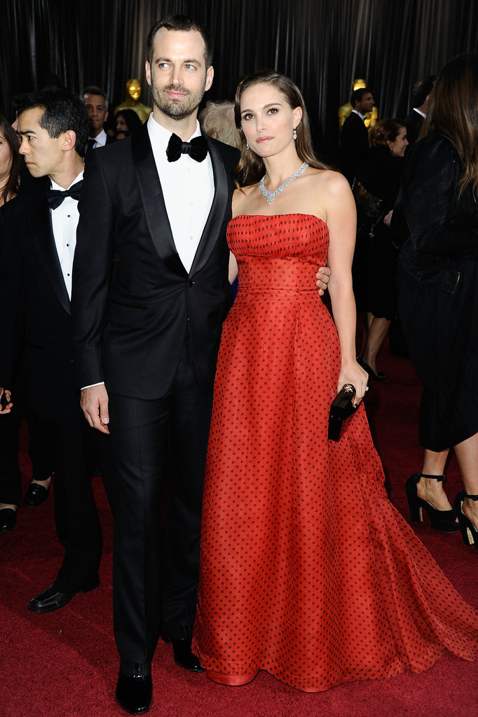 Natalie Portman and Benjamin Millepied are the picture of Old Hollywood glamour.