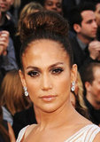 Jennifer Lopez showed off a pair of glittering Lorraine Schwartz earrings.