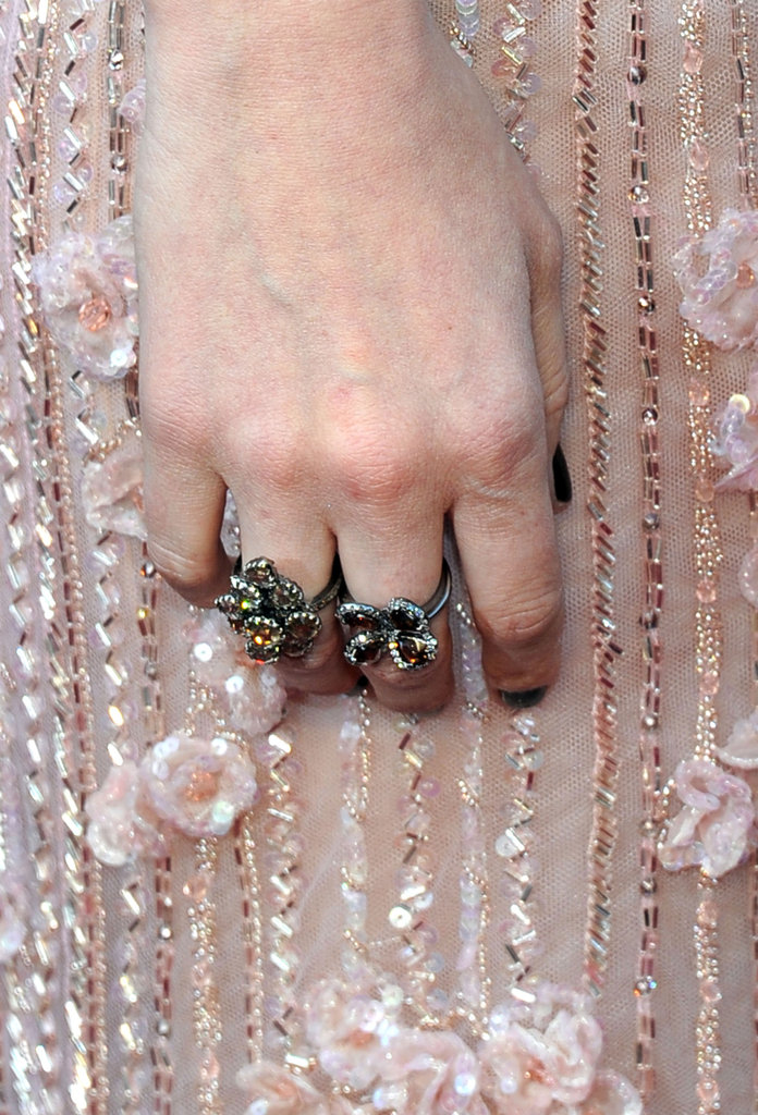 Kate Mara's eclectic rings were the finishing touch on her Oscar-night style.