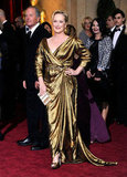 Meryl Streep shone in this metallic Lanvin gown.