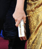 Meryl Streep gave her golden Lanvin gown a perfect finish with a metallic box clutch.