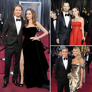 Best Dressed Couples On the Red Carpet at 2012 Oscars: Angelina and Brad, Stacy and George. See Who Else!