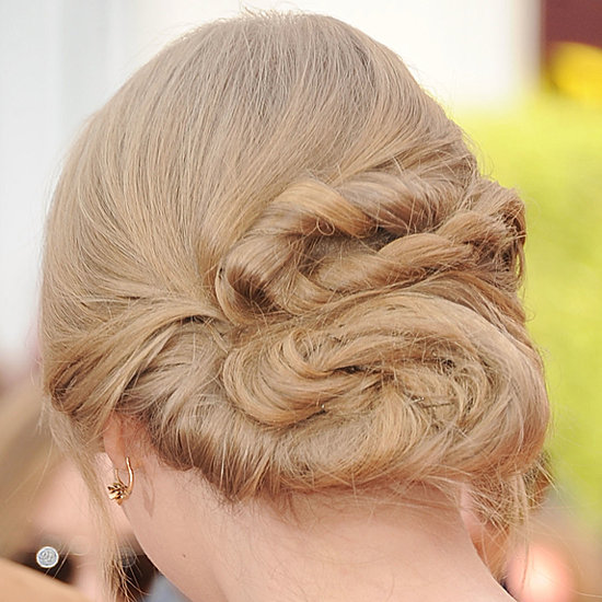 Pretty Braided Hair Bun Idea