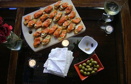 Chive Tartines With Smoked Salmon
