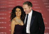 Salma Hayek and her husband Francois-Henri Pinault were all smiles at the Goya Awards in Madrid.