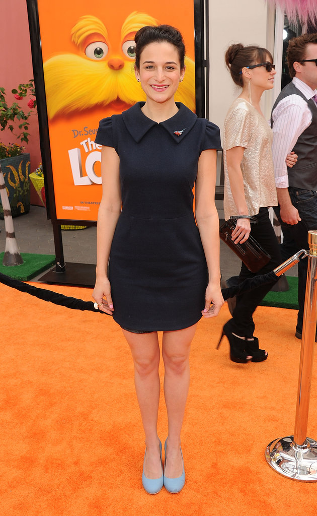 Jenny Slate posed for the press at the premiere of The Lorax.
