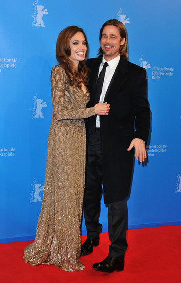 Angelina Jolie and Brad Pitt shared a laugh at the Berlin International Film Festival premiere of her In the Land of Blood and Honey in February.