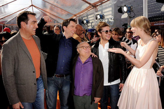 Taylor Swift Captivates Costars Zac, Ed, Danny, and Rob at The Lorax Premiere