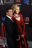 Antonio Banderas and Melanie Griffith posed together at the Goya Awards in Madrid.