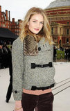 Rosie Huntington-Whiteley went to London Fashion Week.