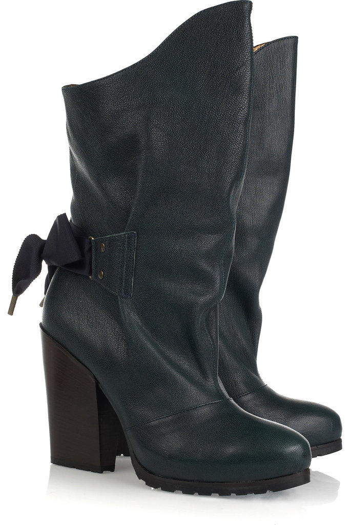 This cool dark teal color will dress up your cold weather clothes and the soles look super comfy to boot. Vanessa Bruno Leather Calf Boots ($281, originally $935)