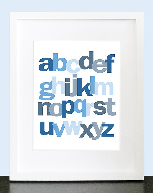 Lowercase ABC Print ($15)