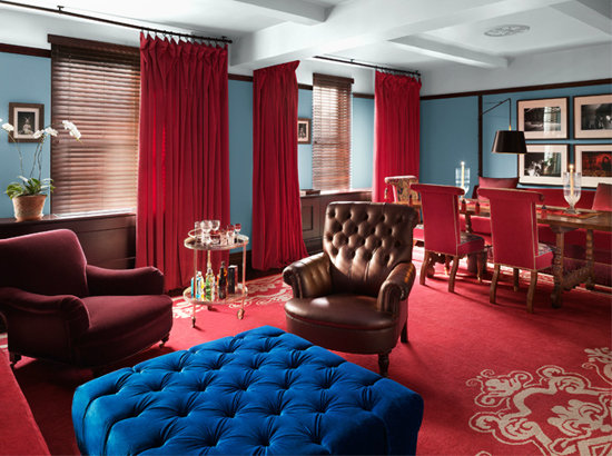 Each room in the Gramercy Park Hotel is designed in a Raphael-inspired color palette.  Photo courtesy of Gramercy Park Hotel