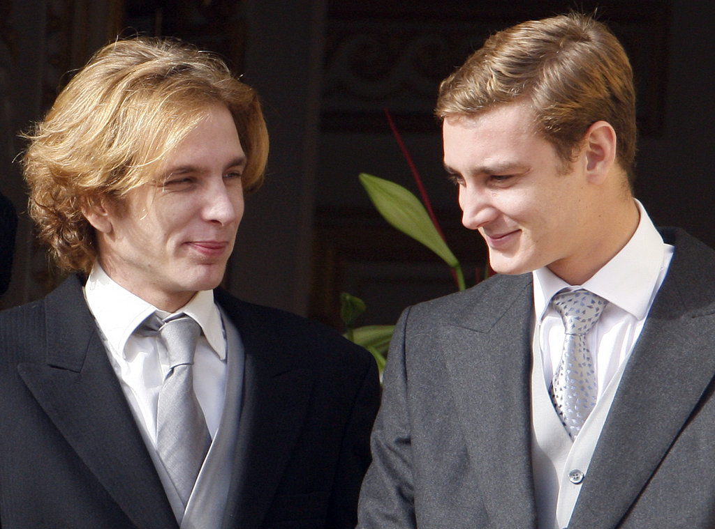 Pierre and his brother, Prince Andreas Casiraghi, mark Monaco's National Day in 2009.