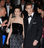 Pierre and his sister Charlotte arrive for the 2009 Rose Ball.