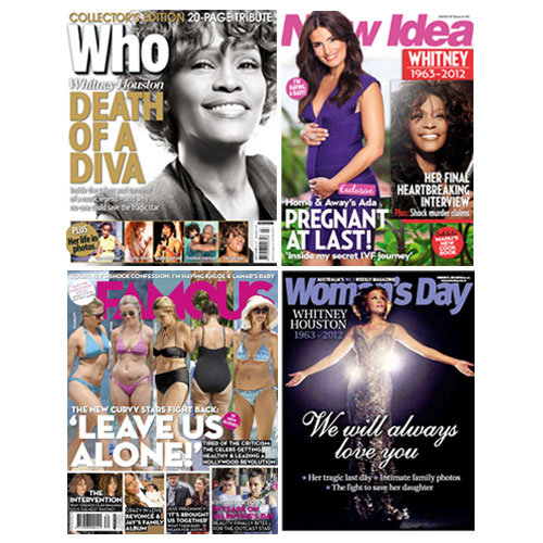 Australian Weekly Magazine Round Up for February 20th 2012 With Who, Woman's Day, New Idea and Famous