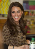 Kate Middleton visited with kids at the Rose Hill school in Oxford.