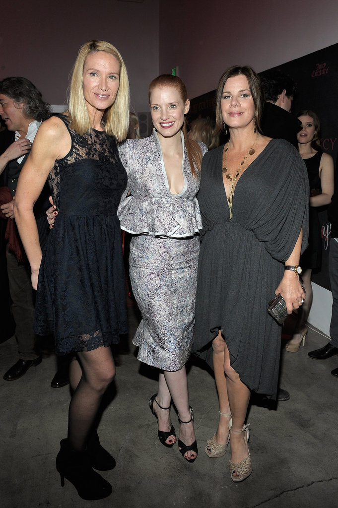 Kelly Lynch, Jessica Chastain, and Marcia Gay Harden attended a Vanity Fair and Juicy Couture bash held in association with Shailene Woodley's All It Takes charity.