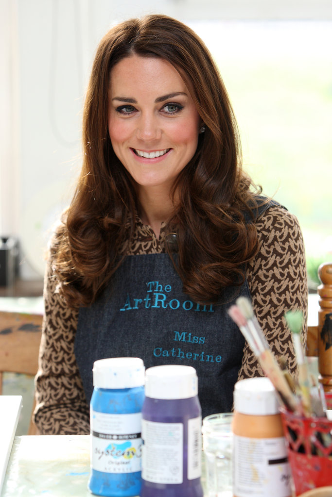 "Kate Middleton wore a smock that said ""Miss Catherine."""