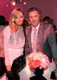 Sam Trammell and Malin Akerman posed for a picture.