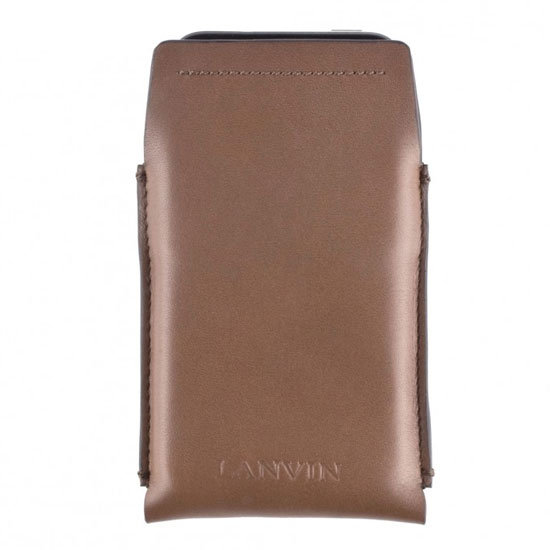 iPhone Case in Mocha Smooth Leather ($195)