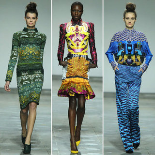 Review and Pictures of Mary Katrantzou London Fashion Week Runway Show