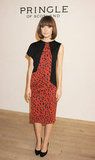 Rose Byrne played it cool in a red-and-black asymmetrical sheath at Pringle of Scotland.