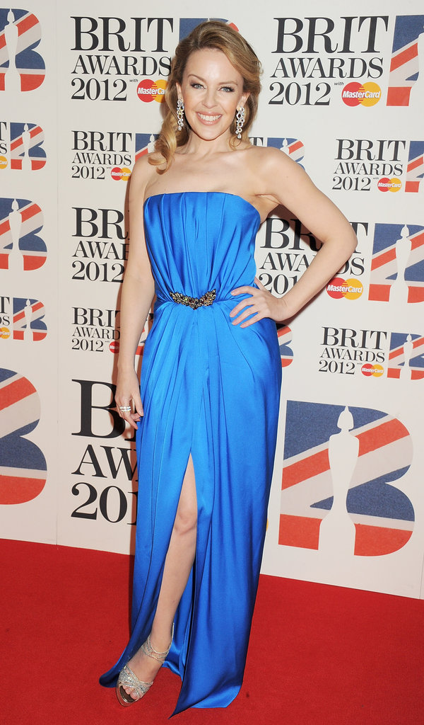 Kylie Minogue in Yves Saint Laurent.
