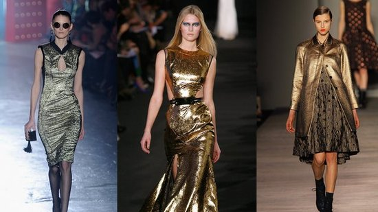 Go For Gold and Try This Glamourous Trend From New York Fashion Week