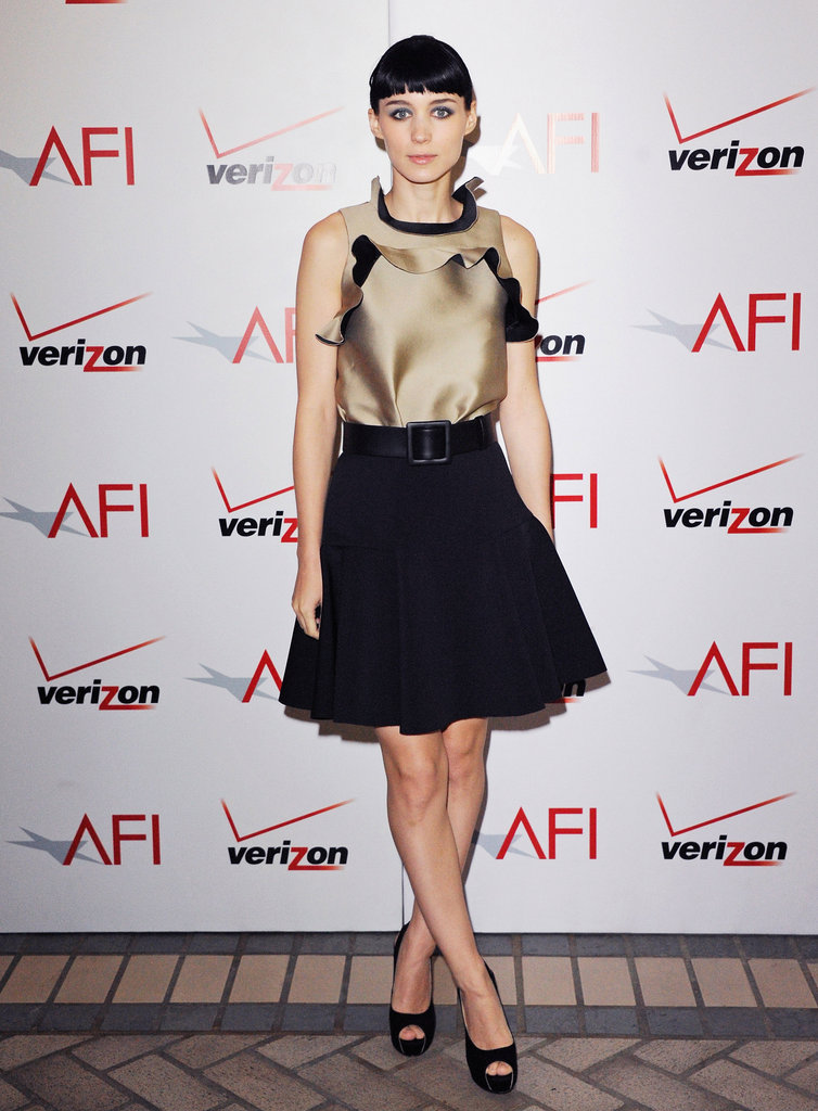 Rooney Mara made an appearance at the AFI Awards in a full-skirted Lanvin confection.