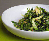 Shredded Brussels Sprouts and Kale Salad