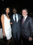 Djimon Hounsou, Kimora Lee, and President of Oxfam America Raymond Offenheiser attended the Vanity Fair and Ermenegildo Zegna Dinner hosted by Colin & Livia Firth and Anna Zegna.