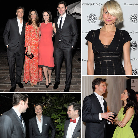 Colin Firth Hosts a Green Bash For John Krasinski, Emily Blunt and Cameron Diaz