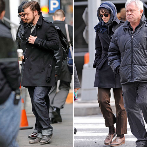 Carey Mulligan and Justin Timberlake Go Vintage on the NYC Set of Their New Film